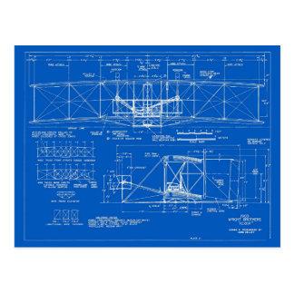 """Wright Bros. """"Flyer"""" Blueprint 1903 Postcard"""