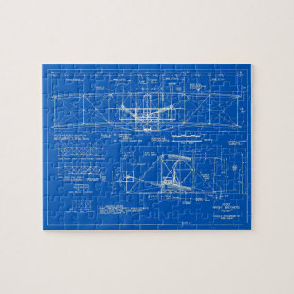 "Wright Bros. ""Flyer"" Blueprint 1903 Puzzle"