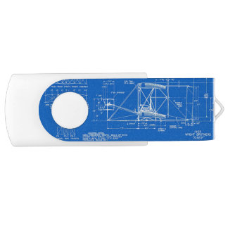 "Wright Bros. ""Flyer"" Blueprint 1903 USB Flash Drive"