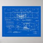 """Wright Bros. Modelo 1903 del """"aviador"""" Poster"""