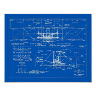 """Wright Bros. Modelo 1903 del """"aviador"""" Póster"""