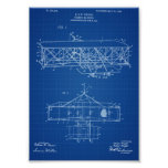 Wright Brothers Airplane Patent - Blueprint Poster