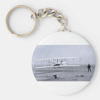 Wright Brothers' First Airplane Flight in 1903 Keychain