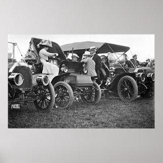 Wright Brothers Flight Spectators 1909 Poster