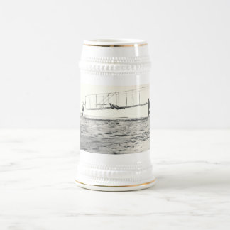 Wright Brothers' Glider Tests Beer Stein