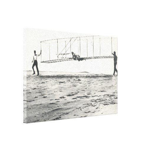 Wright Brothers' Glider Tests Stretched Canvas Prints