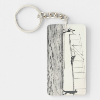 Wright Brothers' Glider Tests Keychain