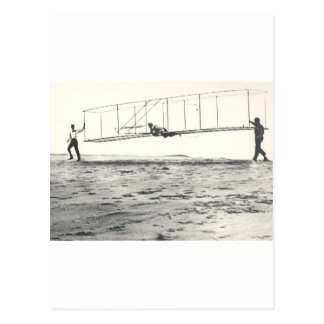 Wright Brothers' Glider Tests Postcard