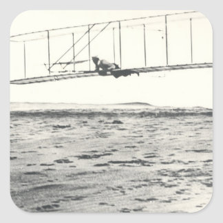 Wright Brothers' Glider Tests Square Sticker