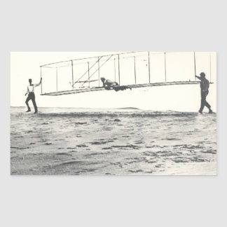 Wright Brothers' Glider Tests Rectangle Stickers