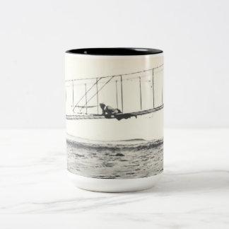 Wright Brothers' Glider Tests Two-Tone Coffee Mug