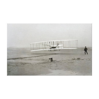 Wright Brothers Kitty Hawk First Flight Airplane Canvas Print