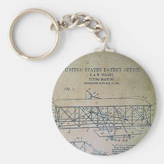 Wright Brothers Patent Design Keychain