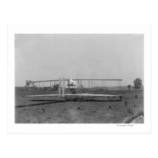 Wright Brothers Plane Close-up View Postcard