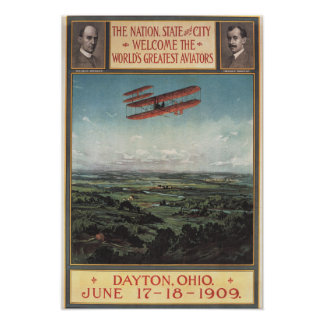 Wright Brothers Plane Poster