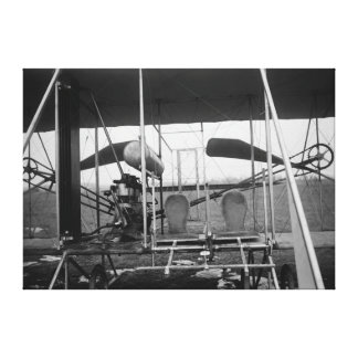 Wright Brothers Plane with Pilot and Stretched Canvas Print