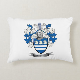 Wright Coat of Arms Decorative Pillow