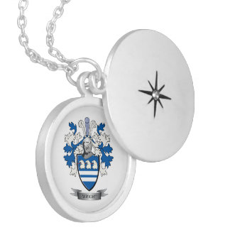 Wright Coat of Arms Silver Plated Necklace
