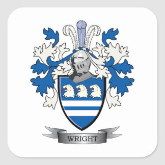Wright Coat of Arms Square Sticker