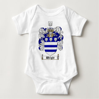 Wright Coat of Arms / Wright Family Crest Baby Bodysuit