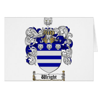 Wright Coat of Arms / Wright Family Crest Card