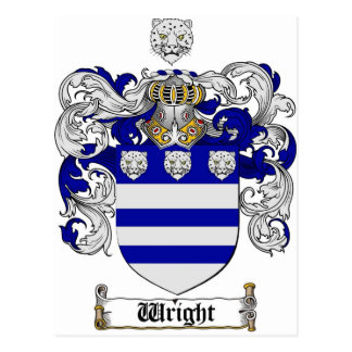 Wright Coat of Arms / Wright Family Crest Postcard