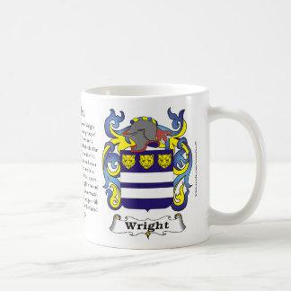 Wright Family Coat of Arms Mug