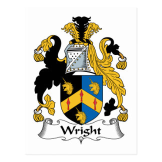 Wright Family Crest Postcard