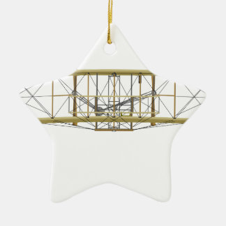 Wright Flyer 1903  Front View Ceramic Ornament