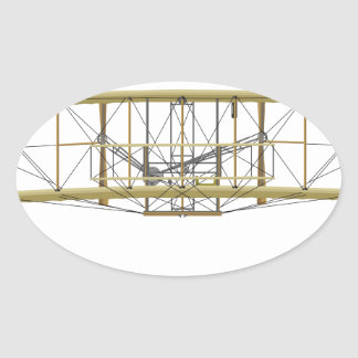 Wright Flyer 1903  Front View Oval Sticker
