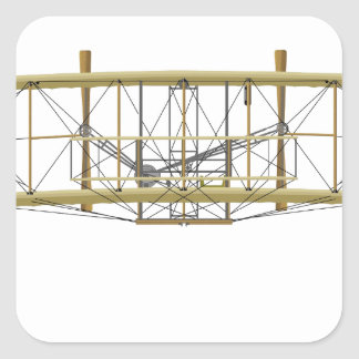 Wright Flyer 1903  Front View Square Sticker