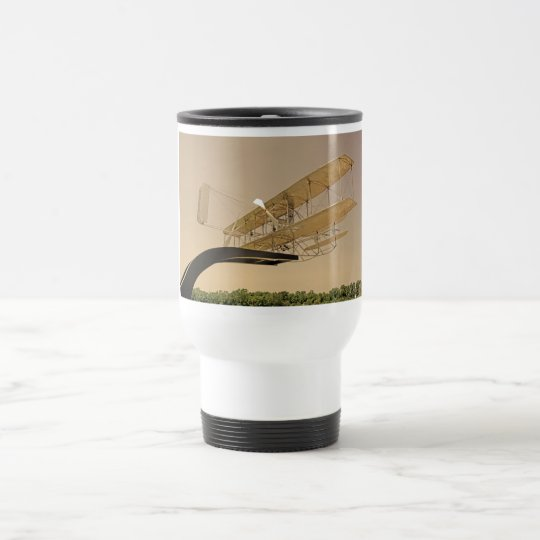 Wright Flyer Aircraft Travel Mug