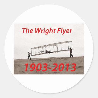 Wright Flyer Anniversary (1903-2013) Classic Round Sticker