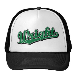 Wright in Green Mesh Hats