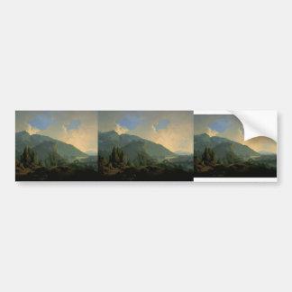 Wright-Paisaje de José con montañas y un río Pegatina De Parachoque