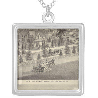 Wright, Putnam residences Silver Plated Necklace