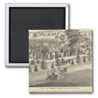 Wright, residencias de Putnam Imán Cuadrado