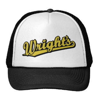 Wright s in Gold Trucker Hats
