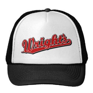Wright s in Red Trucker Hats