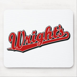 Wright's in Red Mouse Pad