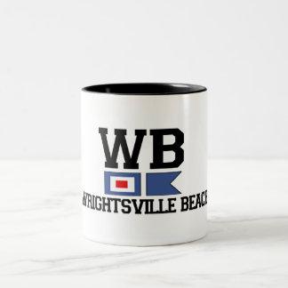 Wrightsville Beach. Two-Tone Coffee Mug