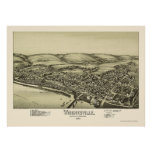 Wrightsville, mapa panorámico del PA - 1894 Póster