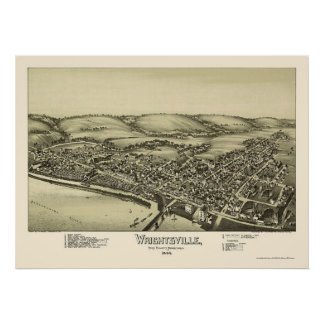 Wrightsville, PA Panoramic Map - 1894 Poster