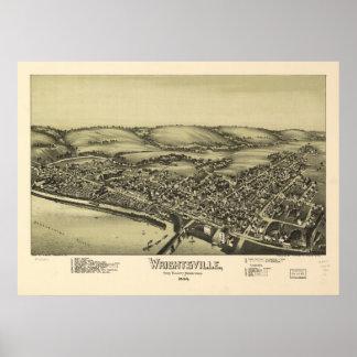 Wrightsville Pennsylvania 1894 Antique Panorama Poster