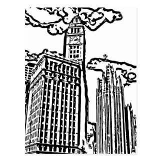 Wrigley Building Color-It-Yourself Post Card