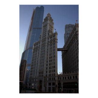 Wrigley Building in Chicago Posters