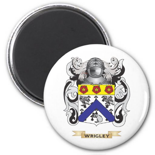Wrigley Family Crest (Coat of Arms) 2 Inch Round Magnet