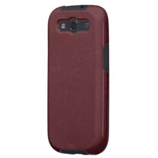 Wrinkled Burgundy Book Cover Samsung Galaxy S Case