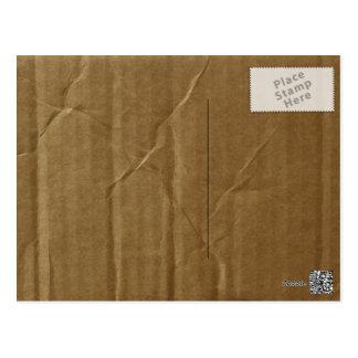 Wrinkled Cardboard Post Card