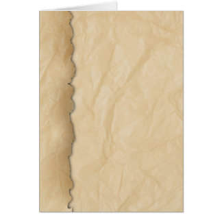 Wrinkled Crinkle Paper Card